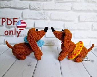 Knitting pattern - Circus dachshund amigurumi animal dog