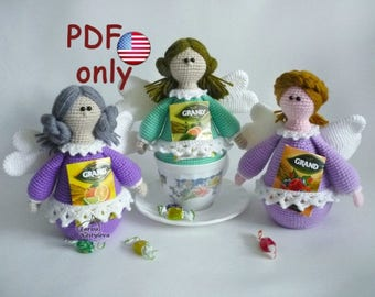 Crochet pattern - Tea Fairy amigurumi case cozy toy