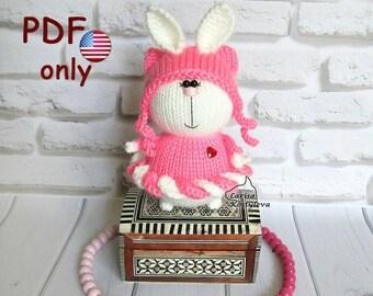 Knitting and crochet pattern - Hare in a marshmallow skirt amigurumi animal rabbit bunny toy (English)