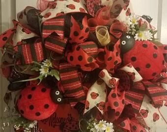 """Lady Bug Red 26"""" Wreath"""