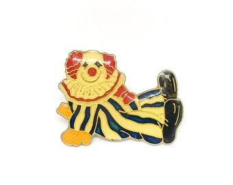 Vintage Clown Enamel Pin