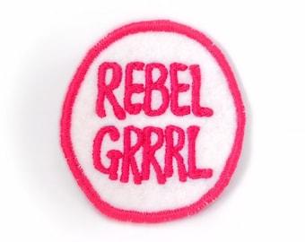 Rebel Grrrl Handmade Patch