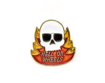 Vintage Hell On Wheels Enamel Pin