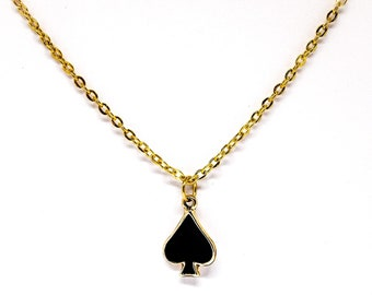 Ace of Spades Charm Necklace