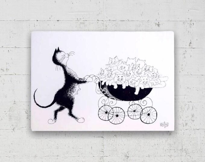 Mother Cat 1985 Postcard