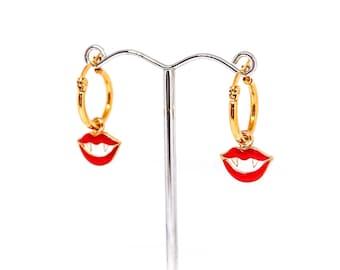 Vamp Charm Hoop Earrings