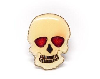 Vintage Skull Enamel Pin