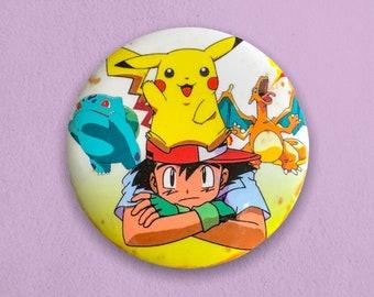 Ash & Pikachu Vintage Pin Badge - Y2K