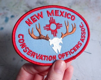 New Mexico Conservation Vintage Patch - 1980s - REPAIRED
