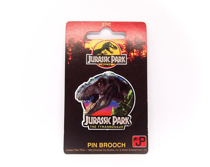 Featured listing image: Vintage Jurassic Park 'The Tyrannosaur' Pin Brooch - 2