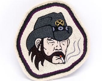 Lemmy Kilmister Hand Embroidered Patch