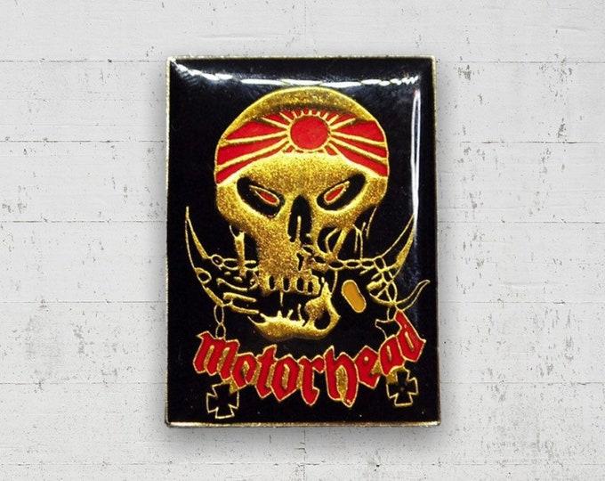 Motörhead 1980s Enamel Pin - Gold/Red