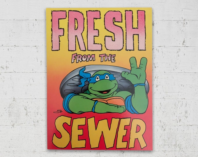 Fresh From The Sewer - TMNT Vintage Postcard