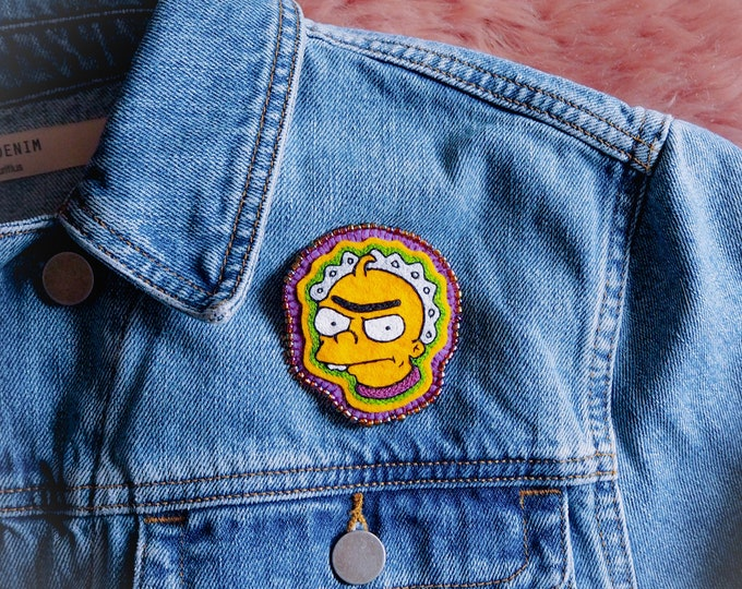 Monobrow Baby Embroidered Brooch - ON SALE