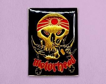 Motörhead Vintage Enamel Pin - Gold/Red - 1980s