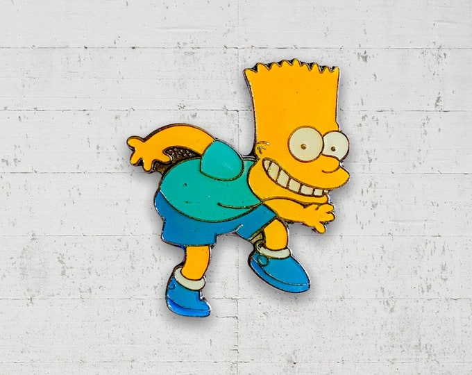 Bart Simpson 1990s Enamel Pin