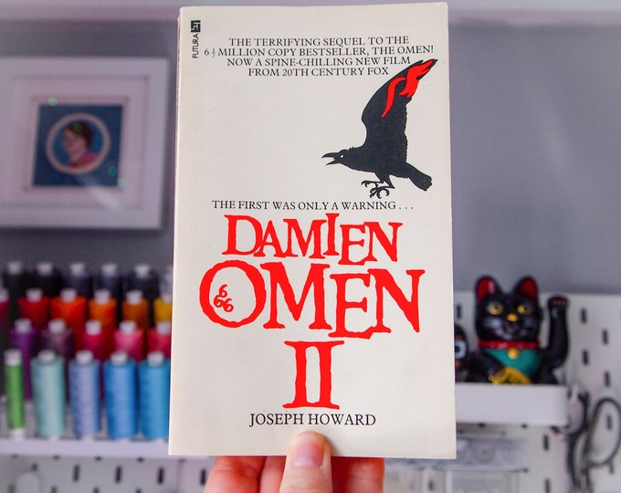 Featured listing image: Damien Omen II by Joseph Howard Vintage 70s Film Tie In Paperback Book