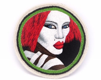 Katrina The Vamp Hand Embroidered Patch Art