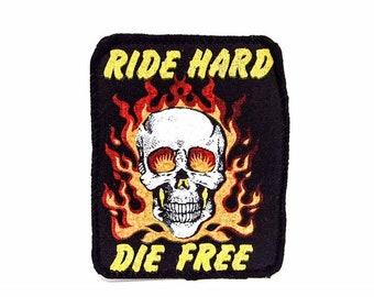 Vintage Ride Hard Die Free Patch