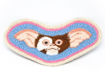 Gizmo Gremlin Hand Embroidered Patch Art