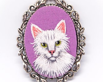 Imaginary Cat Embroidered Brooch