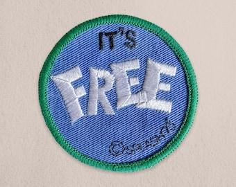 It's Free Vintage Patch - 1970s