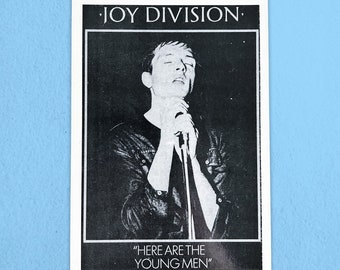Joy Division - Here Are The Young Men - Vintage Postcard