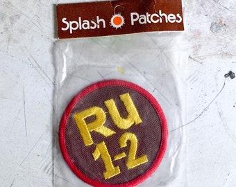 R U 1-2 Vintage Patch - 1970s