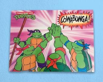Cowabunga TMNT Vintage Postcard - 1990