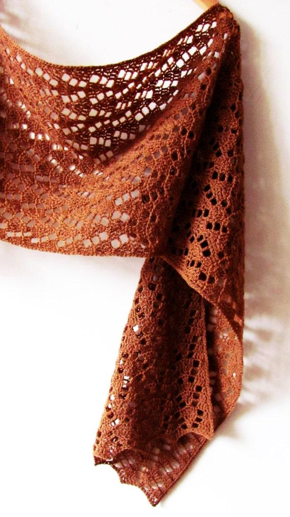 Autumn Leaves Scarf Crochet Pattern Pdf Etsy