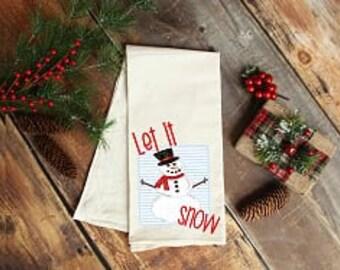 Snowman Set of 2 Sebastien /& Groome Snowman Tea Towels