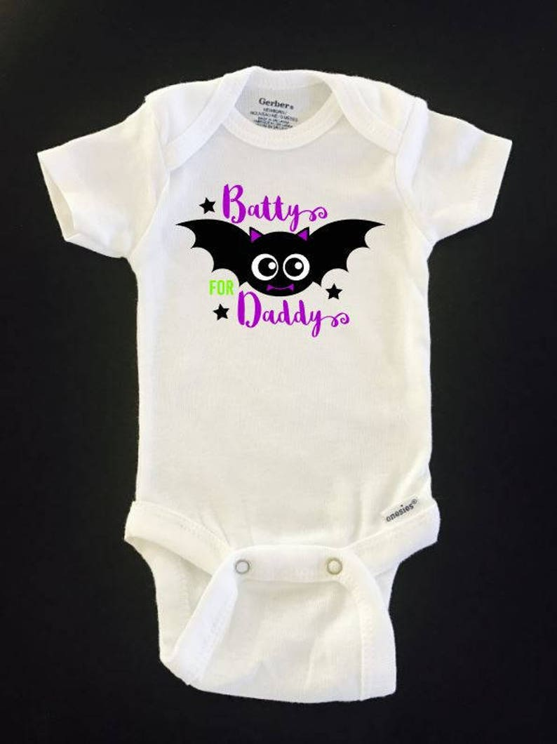 baby Shower gifts Halloween outfits Funny Onesie Batty for Daddy Halloween ONESIE \u00ae brand Gerber Onesie Bodysuit halloween onesies