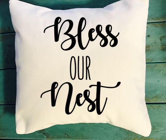 Bless Our Nest Throw Pillow Southern Decor Pillows Southern