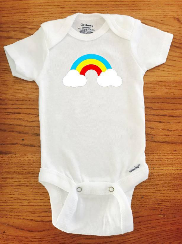 f438fd006157 Rainbow ONESIE ® brand Gerber Onesie Bodysuit Funny Onesie