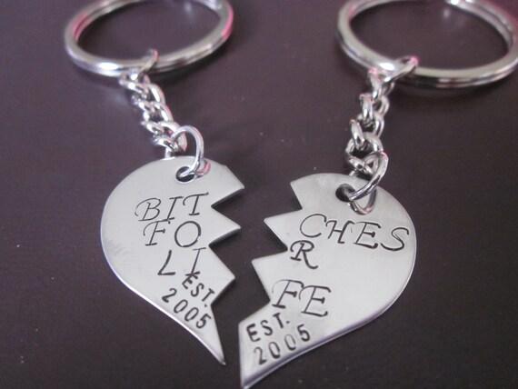 la fabricación de joyas Colgantes Llaveros Acrílico Corazón roto encanto amistad