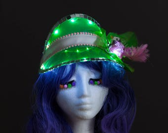 Light-Up Disco Bird Festival Visor