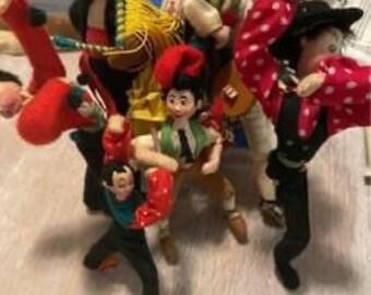 Klump Roldan Doll lot (lot of seven)
