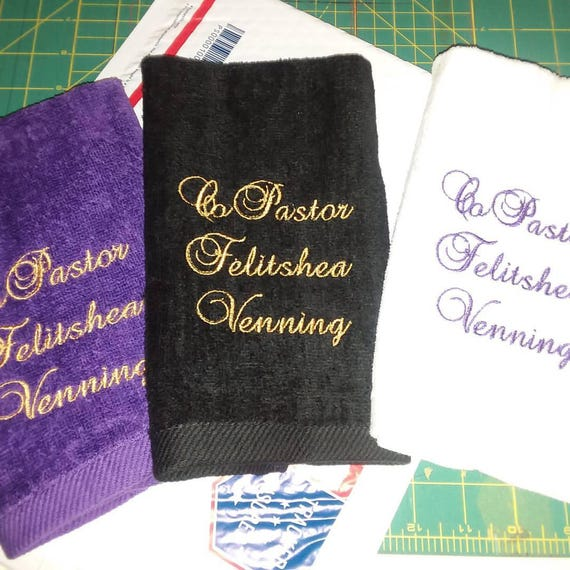 Pastor Clergy Towel Ministry Set Of 3