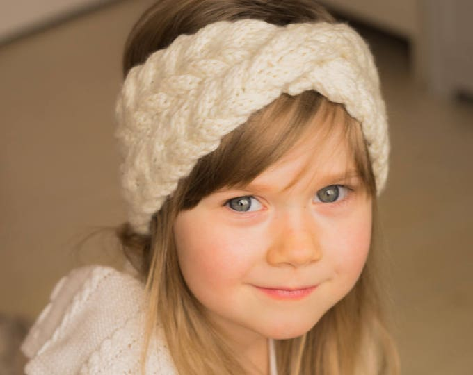 KNITTING PATTERN cable headband with a twist Iverson (kids and adult sizes)