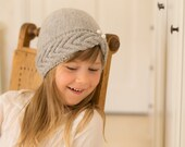 KNITTING PATTERN cable turban hat Pearl