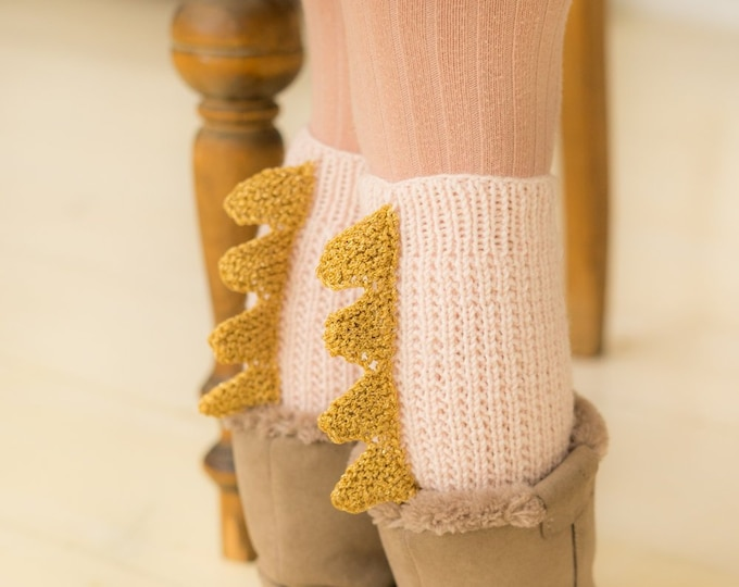 Leg warmers with spikes (toddler size)