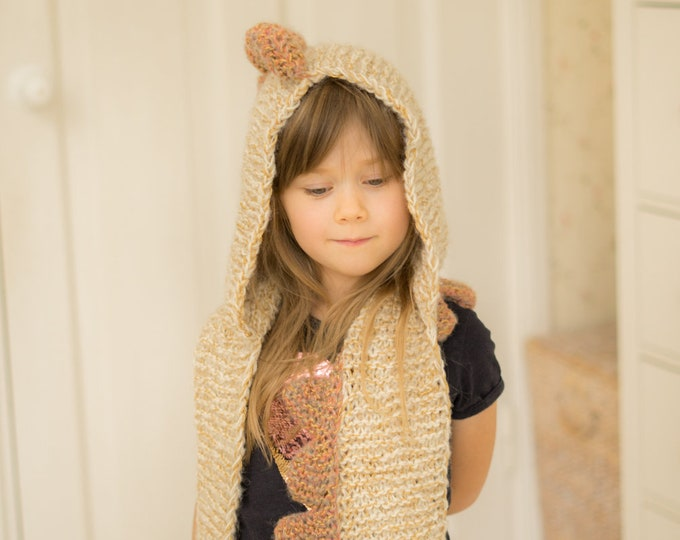 KNITTING PATTERN dragon hooded scarf Viper with spikes (child/adult sizes)