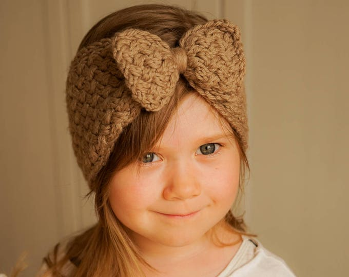 KNITTING PATTERN bow headband Selma (newborn, baby, toddler, kids, woman sizes)