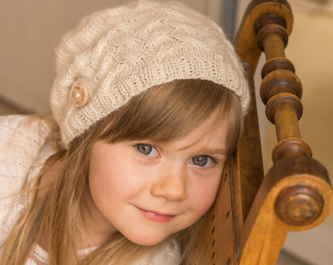 KNITTING PATTERN cable hat and mittens Loise (baby/toddler/child/adult sizes)
