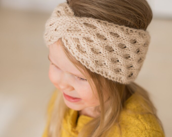 KNITTING PATTERN headband Carine with a twist (kids and adult sizes)