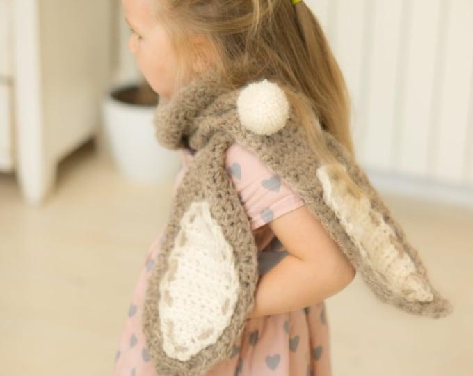 CROCHET PATTERN bunny scarf Bugz  (kids size)