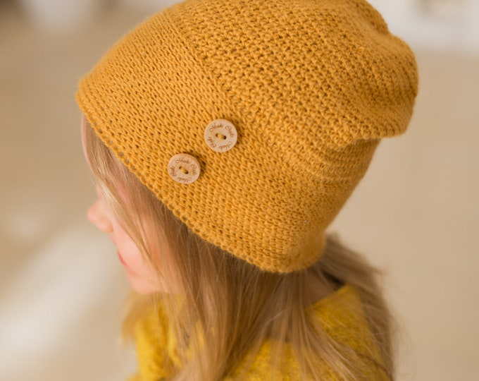 CROCHET PATTERN light slouch hat Molly (toddler/ child/ woman sizes)