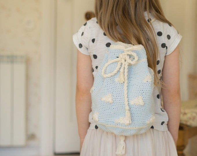 CROCHET PATTERN bucket bag Cloud in tapestry crochet