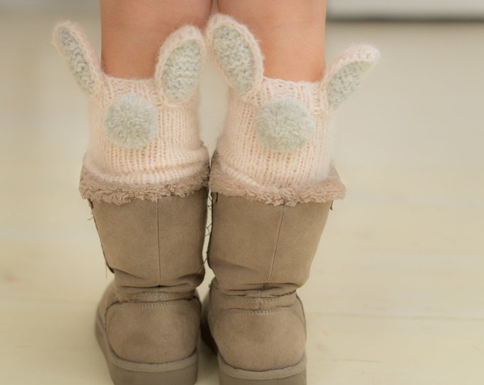 KNITTING  PATTERN bunny leg warmers Lilly (baby to adult sizes)