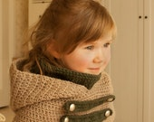 CROCHET PATTERN hooded cowl Cole with inner cowl and straps